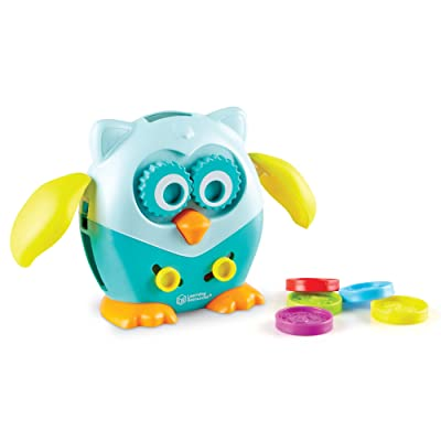 Learning Resources Hoot the Fine Motor Owl, Color, Shapes and Number Development, 6 Pieces, Ages 18 Months +: Toys & Games