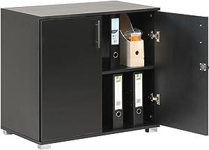MMT Furniture Designs Ltd MMT-SD-IV07Black Office Storage Cupboard, 730mm Tall, Black