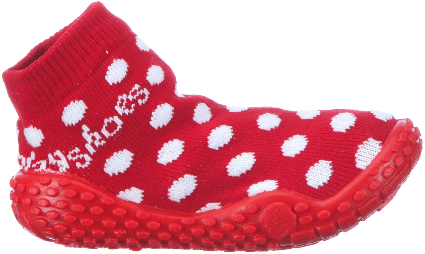 Playshoes Girls Dots Collection Rubber Aqua Swim/Beach Sock Shoes (7 M US Toddler) by Playshoes (Image #6)