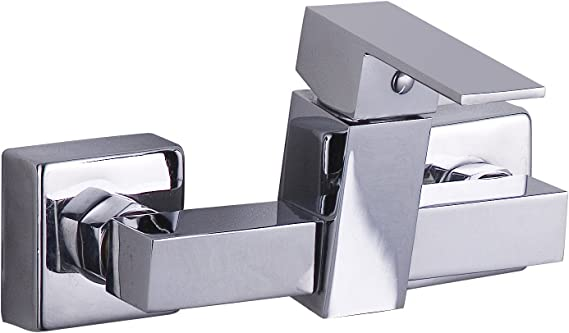 DP Grifería - Grifo monomando de ducha, color plateado, serie Arce ...
