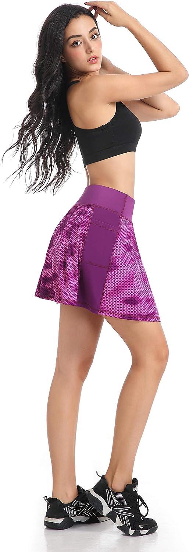 Faldas de tenis para mujer con pantal/ón corto interior QING Hong
