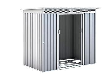 GARDIUN Caseta Metálica Kingston Silver/Blanco 3 m² Exterior - KIS12134: Amazon.es: Jardín