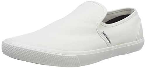JACK & JONES Jfwseb, Zapatillas sin Cordones para Hombre, Blanco Bright White, 40