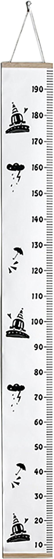Tabla de Crecimiento Cuadro de Altura de Lona Colgante de Pared para Beb/é Ni/ños Ni/ños Ni/ñas Decoraci/ón de Habitaci/ón de Crecimiento Gr/áficos de Crecimiento