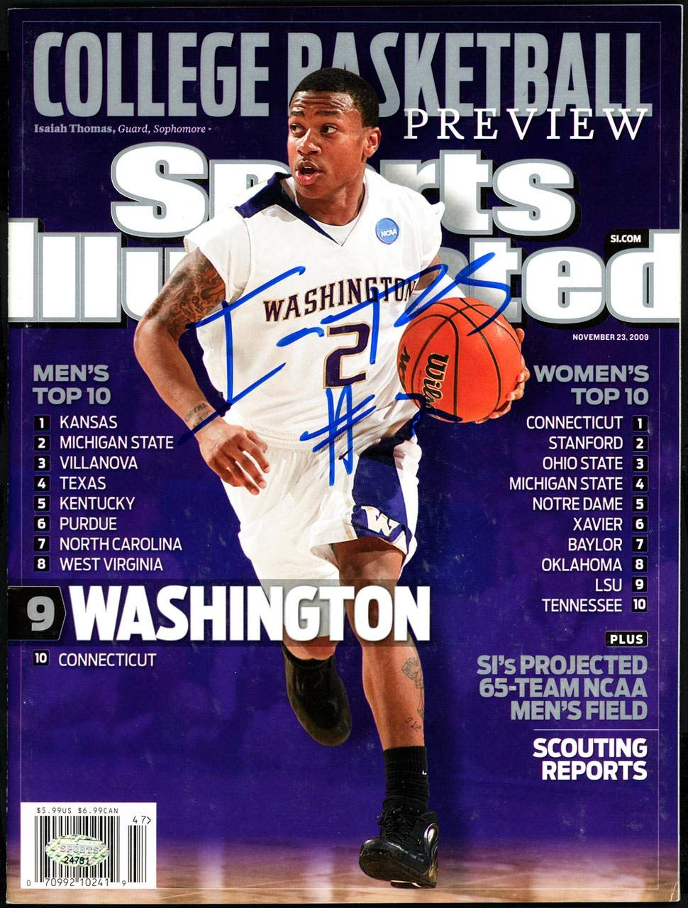 lowest price 135bb 9a878 Isaiah Thomas Autographed Sports Illustrated Magazine ...