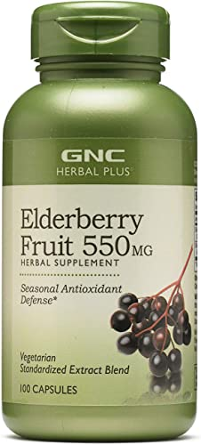 GNC Herbal Plus Elderberry Fruit 550mg