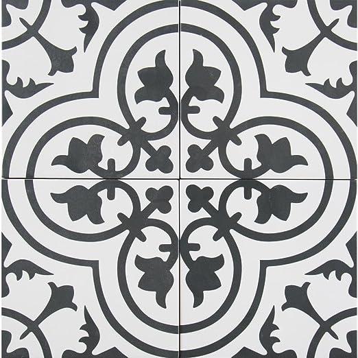 Amazon Com Amantus Encaustic 8 In X 8 In Glazed Porcelain Floor