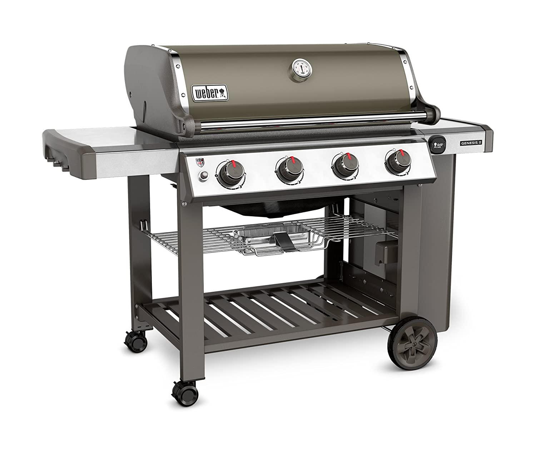 d88b0703b78 Amazon.com : Weber 62050001 Genesis II E-410 Liquid Propane Grill, Smoke,  Four-Burner, : Garden & Outdoor
