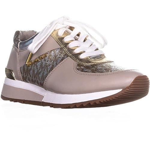 e42e280a72 Michael by Michael Kors Scarpe Allie Sneaker in Pelle Taupe Donna 39.5  Argento/Oro: Amazon.it: Scarpe e borse
