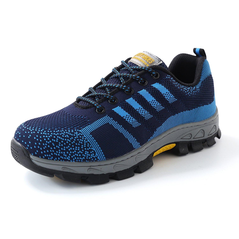 Homme Femme Chaussure de Sécurité S3 Baskets B01MRD55KG Bleu Respirant Chaussures Protection de Travail Semelle de Protection Bleu 9d2987b - boatplans.space