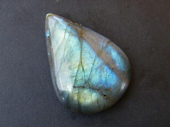 Quality Making Pendant Labradorite Gemstone Pear Shape  63.1  Cts Size 38x26x8 P1#332 Purple Labradorite Gemstone Cabochon A