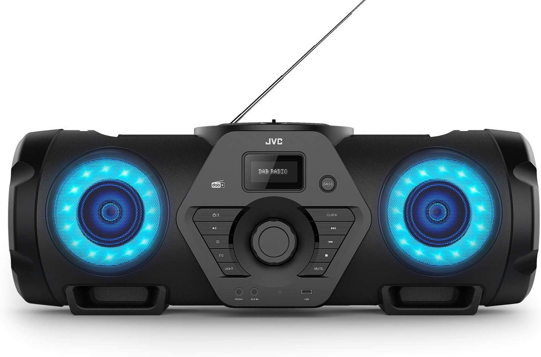 Jvc Boomblaster Rv Nb300dab 2 X 30 Watt Dab Ukw Bluetooth Cd Usb Line In Gitarren Mikrofoneingang Fernbedienung Heimkino Tv Video