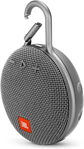 JBL Clip 3 Portable Waterproof Wireless Bluetooth Speaker – Gray