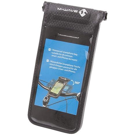 M Wave Soporte/Bolsa para Bicicleta Smartphone Black Bay, Adultos ...