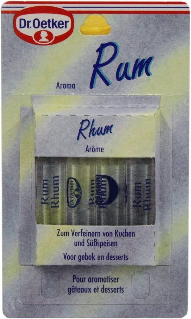 Dr. Oetker condimentación con sabor a ron - 4 x Paquete ...