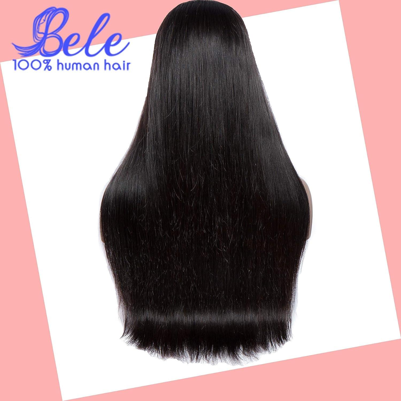 Disfruta de un 50% de descuento. Peluca de pelo lacio(180% densidad,peluca llena llena llena de encaje) 22 pulgada Bele peluca de encaje completo  grandes ofertas