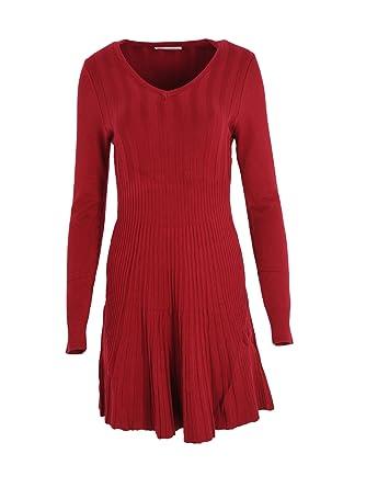 Modefaszination Kleid Strickkleid Knielang Herbst Winter Kleid Bequem Warm  12680 (L XL (38 deb031acd6