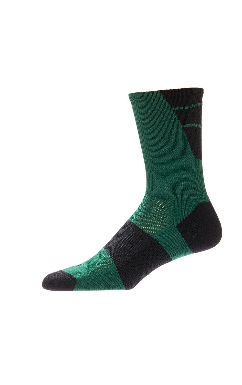 CSI Point Guard Performance Crew Socks Made In The USA Dk Green/Black 6MAN6019