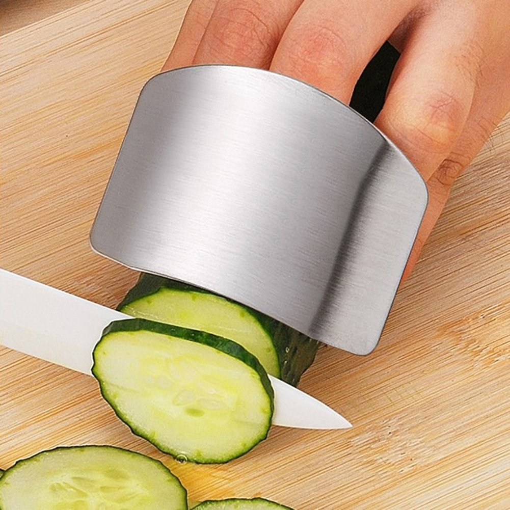 Everpert Stainless Steel Finger Protector Guard Safety Cooking Tools for Peeler