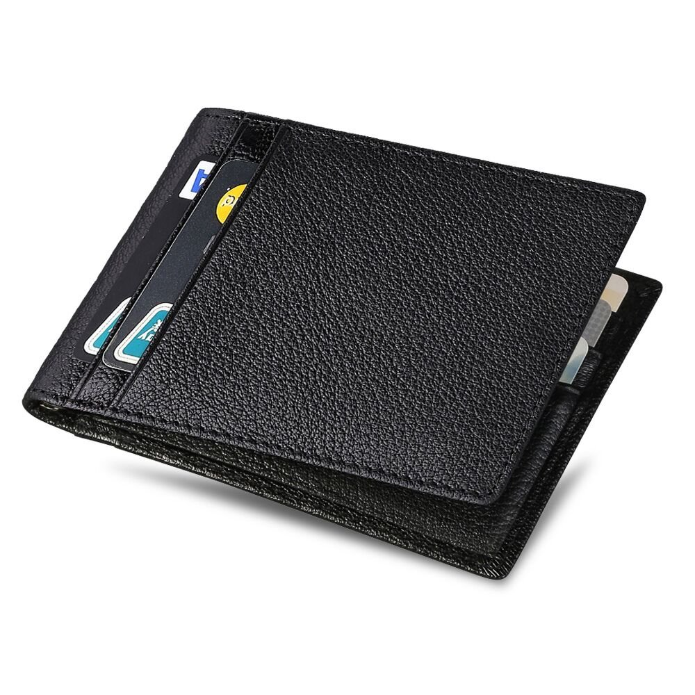 flintronic Cartera de Piel, Moda RFID Bloqueo Monedero de Cuero Slim,Carpeta del Cuero,Tarjetas de Visita Tarjeta de Crédito, Alojar hasta 11 Tarjetas: ...