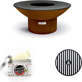 """product image for ARTEFLAME Classic 40"""" Grill with a Low Round Base Starter Bundle with 2 Grilling Accessories."""