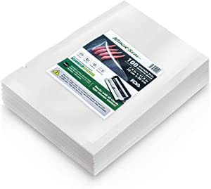 Chamber Machine Vacuum Pouches, MAGIC SEAL Vacuum Sealer Smooth Flat Bags, Size 8