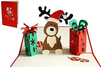 Lin 17558, Pop Up tarjeta de Navidad, Pop Up tarjeta de ...