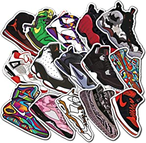 100Pcs AJ Shoes Theme Stickers Variety Vinyl Car Sticker Motorcycle Bicycle Luggage Decal Graffiti Patches Skateboard Stickers for Laptop Stickers for Kid and Adult