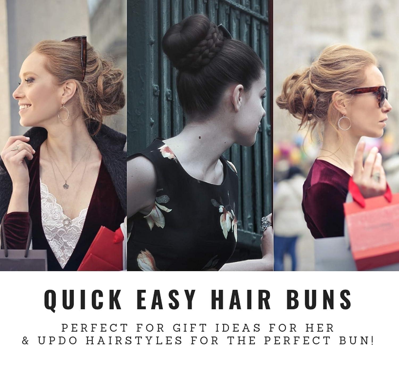 Amazon Set Of 3 Donut Hair Bun Makers Black 1 Small 1