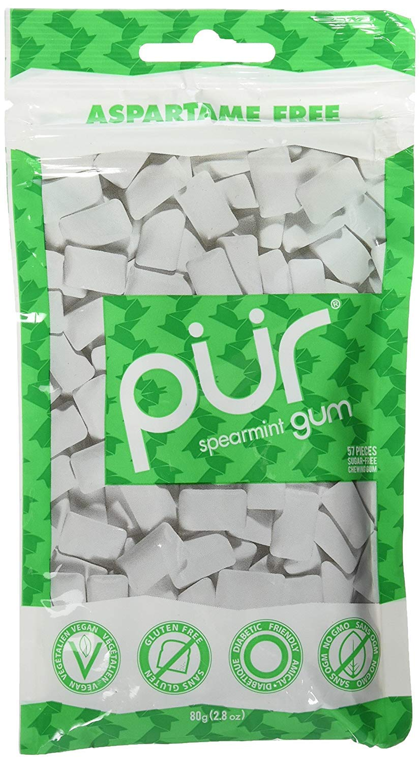 Pur Gum Spearmint, 165 Count (3 bags of 55 Count)