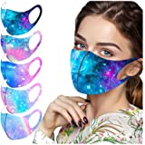 Kaideny 5 Pack Adults Christmas Face_Masks Reusable Washable Halloween Funny Festival Party Comfortable Bandanas