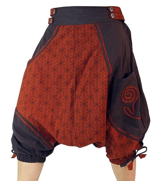 GURU-SHOP, Aladdin Shorts Pluderhose, Café, Algodón, Tamaño:S (38), Pantalones Cortos y 3/4 Pantalones, Calcetas: Amazon.es: Ropa y accesorios