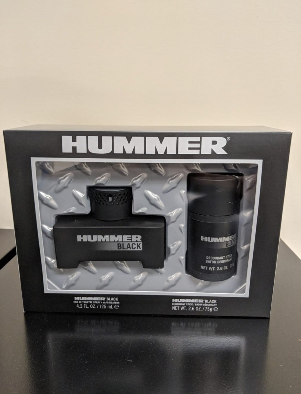 Hummer Black 125ML EDT Spray + 75G Deodorant Set (M)