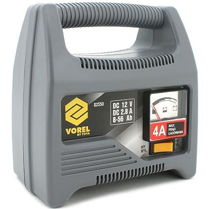 VOREL 82550 - cargador de batería 4a: Amazon.es: Bricolaje y herramientas