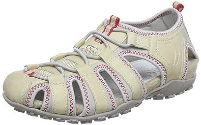 3b7050f58c5408 Geox D SANDAL STREL Sandals Women Beige Beige (BEIGE C5016) Size: 3.5 (
