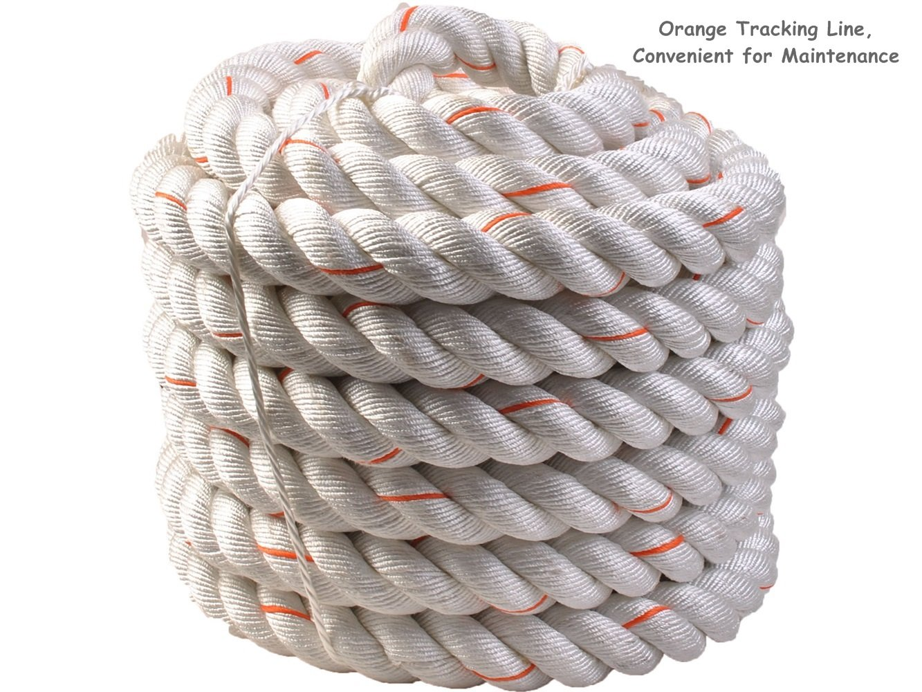 1.5'' Poly Dacron 50ft/White Battle Rope Workout Strength Training Undulation TKT-11 by TKT-11 (Image #5)