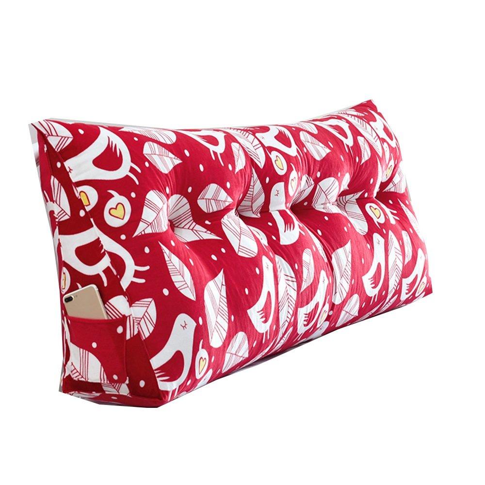 クッション ベッドサイドクッション三角ダブルバックソフトケースプリンセスベッド枕の腰部ピローウエストピロー快適 枕 (色 : 1, サイズ さいず : 180*50*20cm) B07F5VZD2Y 180*50*20cm|1 1 180*50*20cm