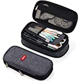 ANGOOBABY Foldable Pencil Case Big Capacity Pencil Pouch Large Pencil Bag Makeup Bag for Teen School (Gray)