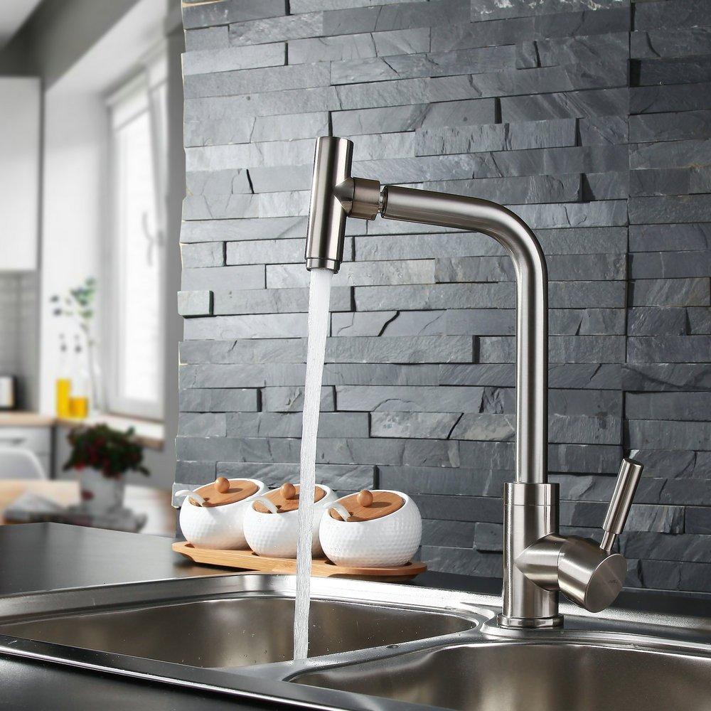 Decorry Küche Küchenarmatur Mit Warmen Und Kalten Wasserhahn 304 Edelstahl Sicherheits-Suite Führende Fabrik Direkt Niedrigen Preis Explosion Modelle