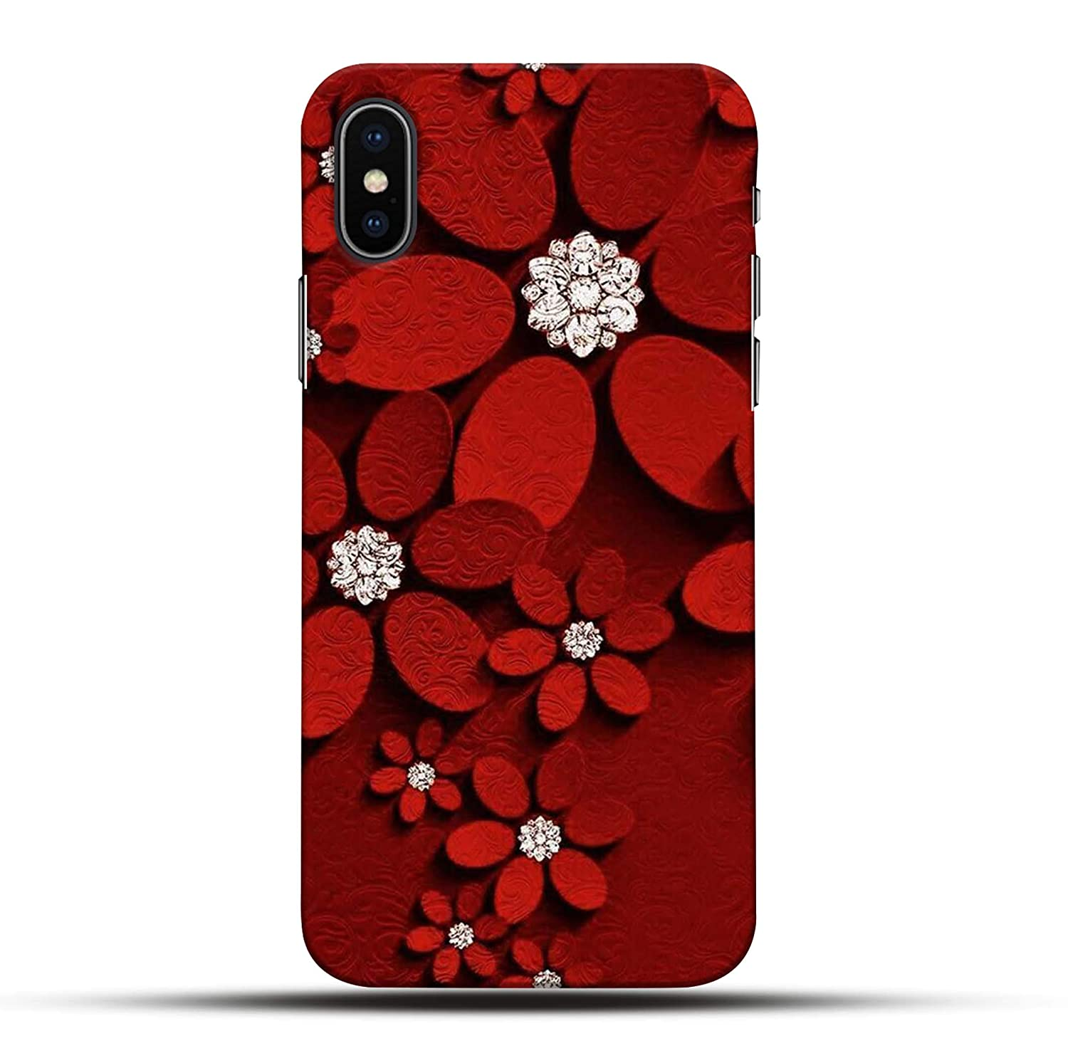 Pikkme Funky Cute Red Diamond Abstract Pattern Amazon In Electronics