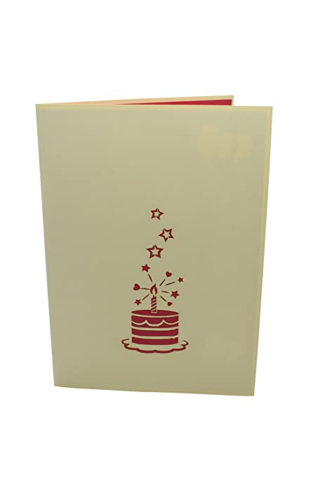 Amazon Paperkraft Happy Birthday Cake Pop Up Card 3d Card