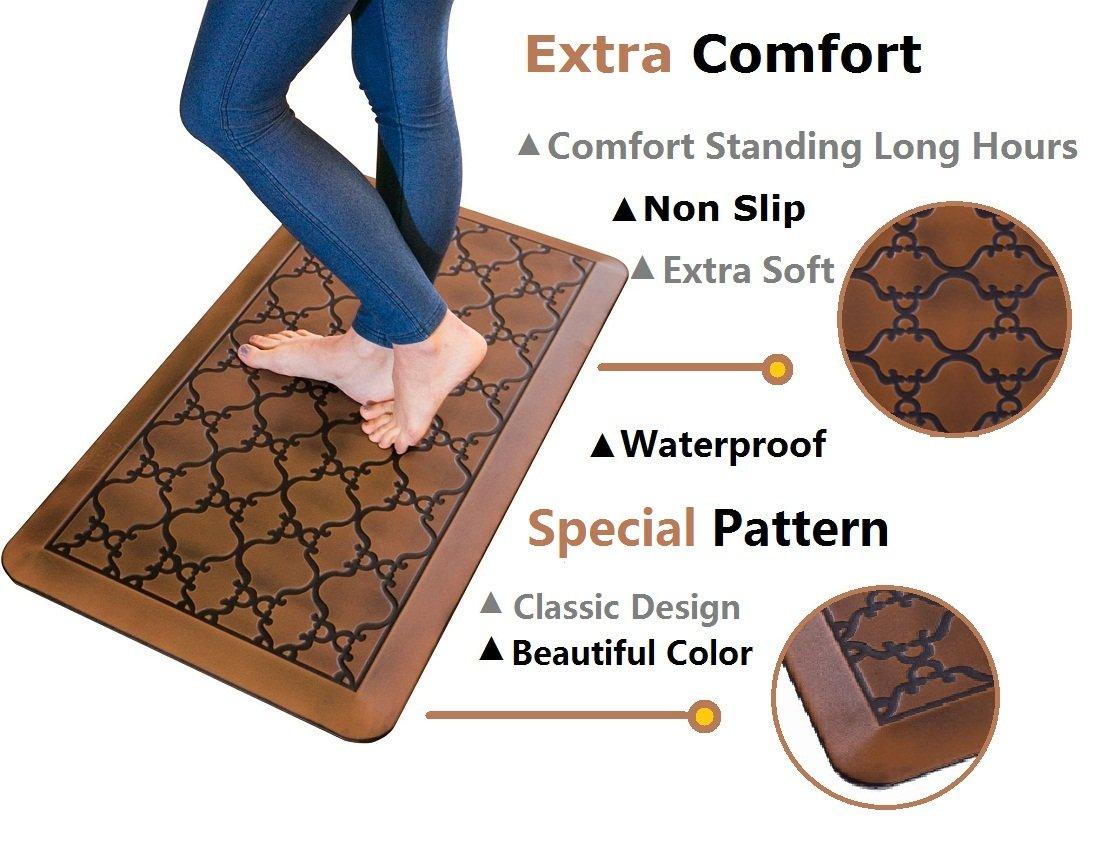 Licloud Anti-fatigue Mat Non-toxic Kitchen Floor Mat Comfort Mat Desk Mat (24x70x3/4-Inch, Antique Light) by Licloud (Image #4)