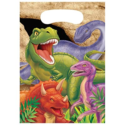 Creative Converting Dino Blast 8 Count Party Favor Loot Bags (1290820) - 085012: Childrens Party Favor Sets: Kitchen & Dining