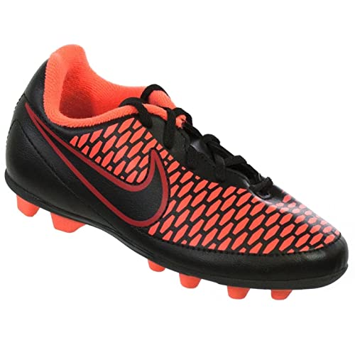 hot sale online 49e9c 1b8a1 Nike JR Magista Ola FG-R Youth Molded Soccer Cleats Black Magenta Red