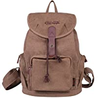 DGY Women Retro Canvas Backpack Casual Backpack for Women College Backpack G00117 White Star