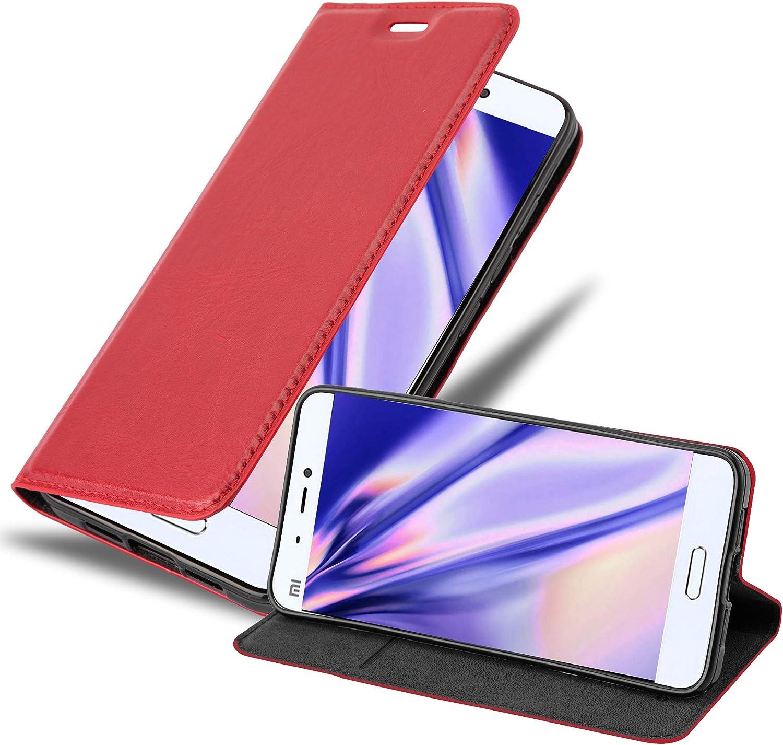 Cadorabo Funda Libro para Xiaomi Mi 5 en Rojo Manzana – Cubierta Proteccíon con Cierre Magnético, Tarjetero y Función de Suporte – Etui Case Cover Carcasa