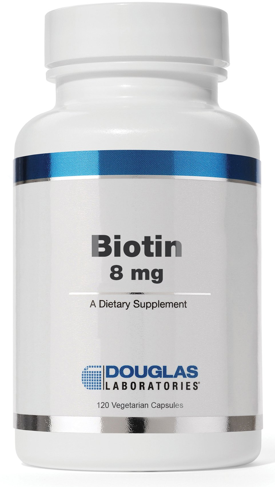 Douglas Laboratories - Biotin 8 mg - Vitamin B7 to Support Glucose Metabolism, Enzyme Production and Nerve Function - 120 Capsules