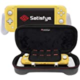 Satisfye - New SwitchGrip Lite Slim Bundle, Gray - Accessories Compatible with Nintendo Switch Lite - Bundle includes: Switch Grip Lite, Slim Case. BONUS: 2 Thumbsticks