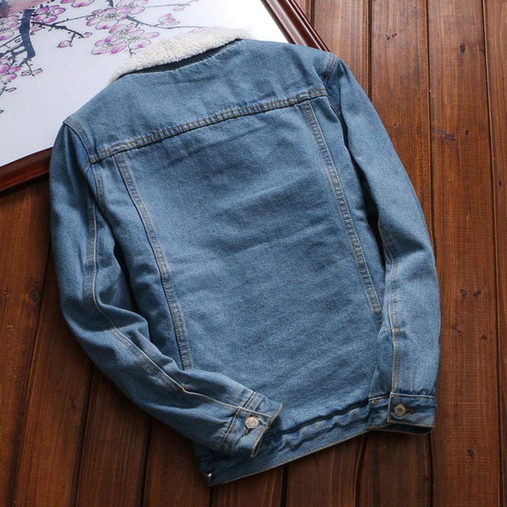 Zolimx Denim Jeansjacke Damen Frauen Herbst Winter Denim