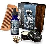 Every Day Carry Comb Kit: Beard Oil & Beard Balm W/ BONUS Free Brass Knuckles Balm/Mustache Comb